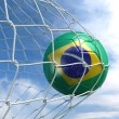 Soccerball in net — Stock Photo #8289395