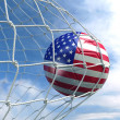 Soccerball in net — Stock Photo #8289416