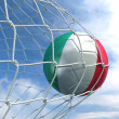 Soccerball in net — Stock Photo #8289493