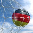 Soccerball in net — Stock Photo #8289500
