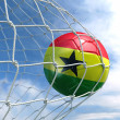 Soccerball in net — Foto Stock