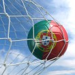 Soccerball in net — Stock Photo #8289585