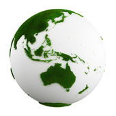 Grass earth - western central pacific — Stock Photo