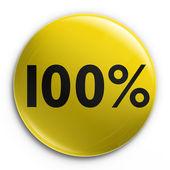 Badge - 100 percent off — Stockfoto