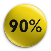 Badge - 90 percent off — Stock Photo
