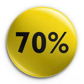 Badge - 70 percent off — Stock Photo