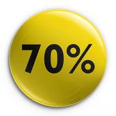 Badge - 70 percent off — Stock Photo