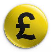 Badge - pound — Stock Photo