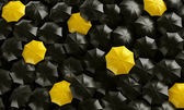 Umbrellas seen from the top — Stock Photo