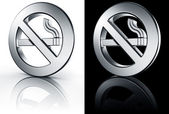 No smoking sign on white and black floor — Foto de Stock