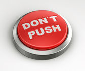 Red button - don't push — Stock Photo