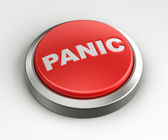 Red button - Panic — Stock Photo