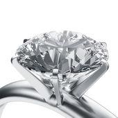 钻石戒指 — 图库照片