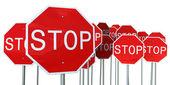 一時停止の標識 — ストック写真