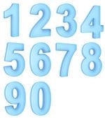 полупрозрачные чисел — Стоковое фото