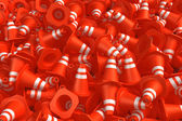 Pile of traffic cones — Stock Photo