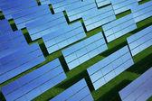 Solar panel on grass field — Stock Photo