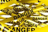 Danger caution tape — Stock Photo