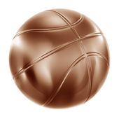 Basketball in bronze — Stockfoto