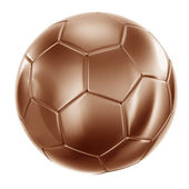 Soccerball in bronze — Stock Photo