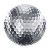 Golfball in silver — Stockfoto