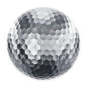 Golfboll i silver — Stockfoto