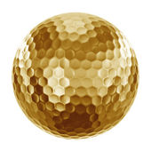 Golfball in gold — Stock Photo