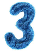 3 in blue fur — Stock Photo