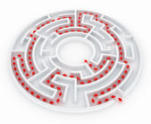 Maze with path — Stock Photo