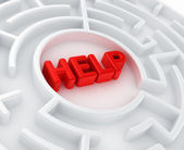 Maze - Search for help — Stock Photo