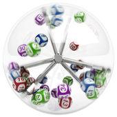 Balls in lottery machine — Stock Photo