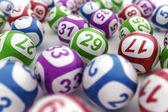Bolas de loteria — Foto Stock