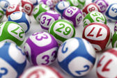 Lottery balls — Stock Photo