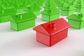 Red house among green — Stock Photo