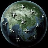 Planes over Asia — Stock Photo