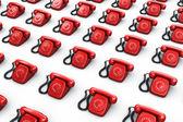 Red vintage phones — Stock Photo