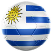 Uruguayan soccer ball — Stock Photo