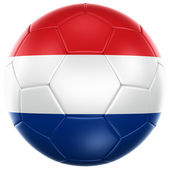Dutch soccer ball — Stock Photo