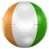 Ivoran Coast soccer ball — Stock Photo