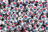 South korean Soccer balls — Stock Photo