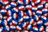 Paraguayan Soccer balls — Stock Photo