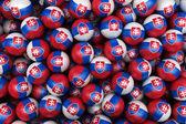 Slovakian Soccer balls — Stock Photo