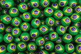 Brazilian Soccer balls — Stock Photo