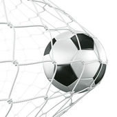 Soccerball en net — Photo