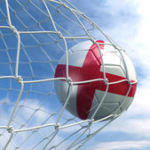 Soccerball in net — Stock Photo