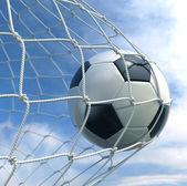 Soccerball in net — Stock Photo