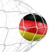 ネットで soccerball — ストック写真