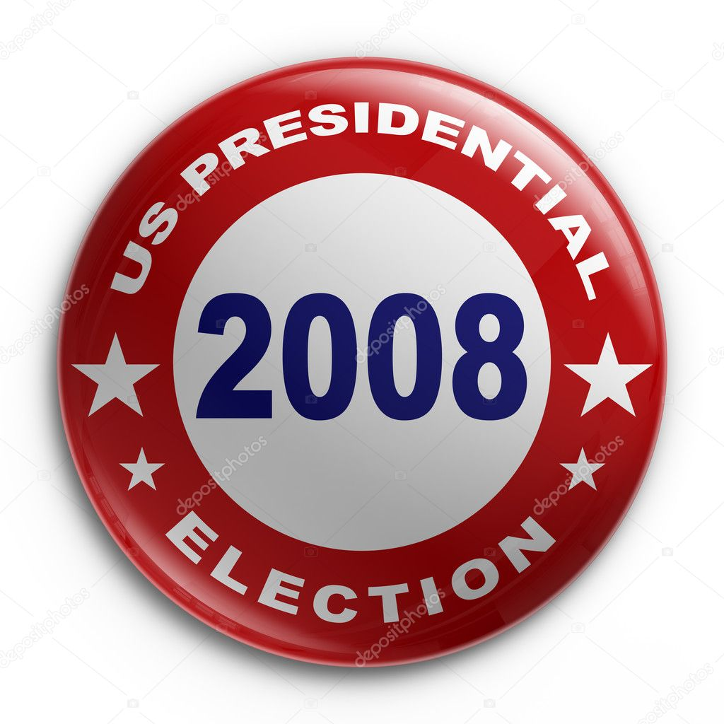 3d rendering of a badge for the 2008 presidential election — Stock Photo #8281986