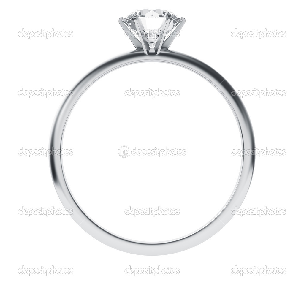 3d rendering of a diamond ring — Stock Photo #8282473