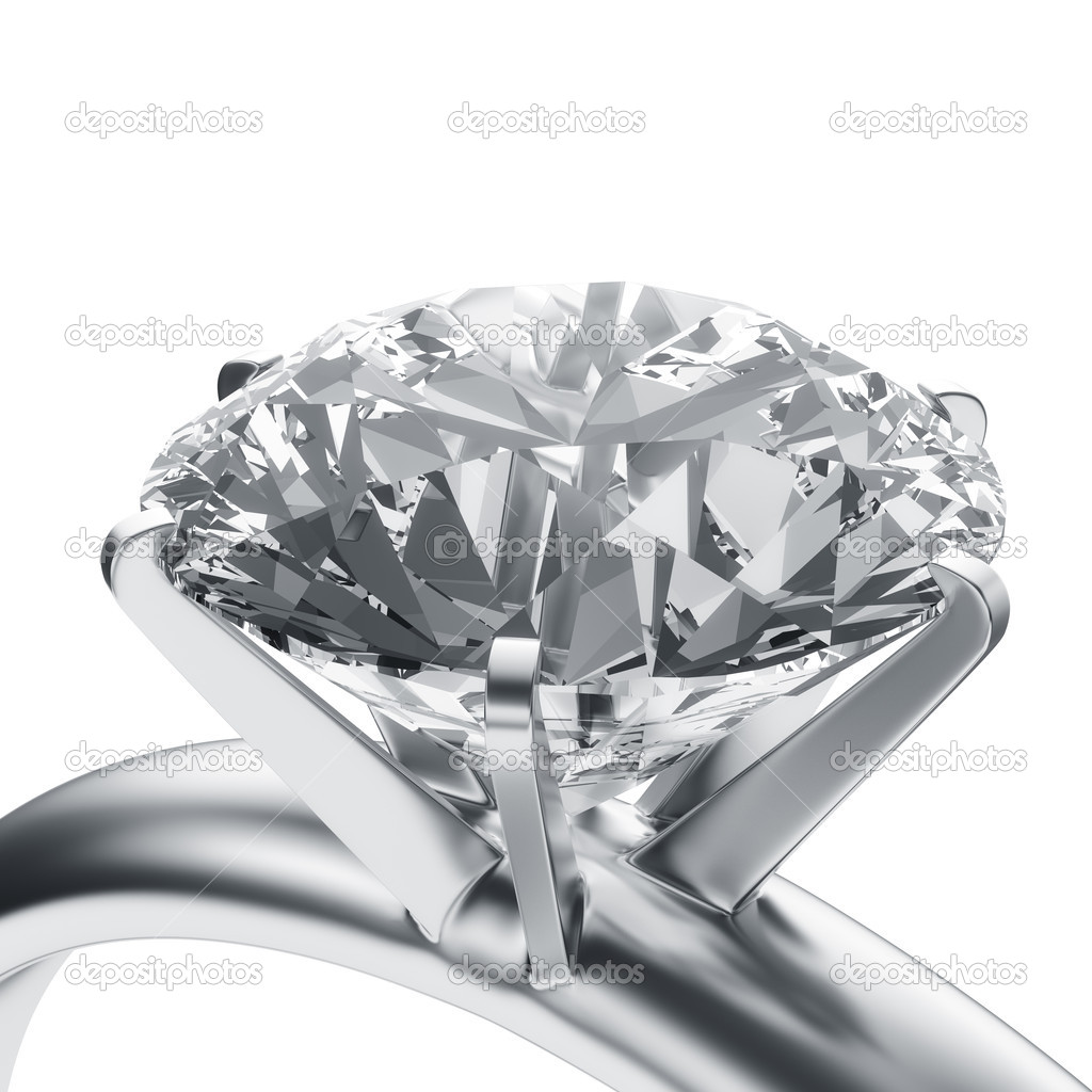 3d rendering of a diamond ring  Foto Stock #8282493